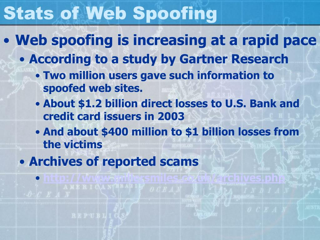 Stats of Web Spoofing