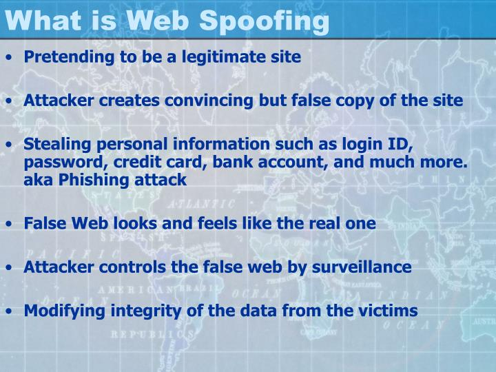What is web spoofing