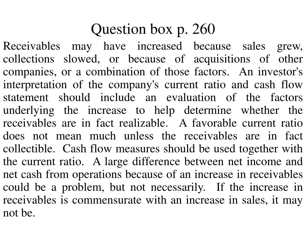 Question box p. 260