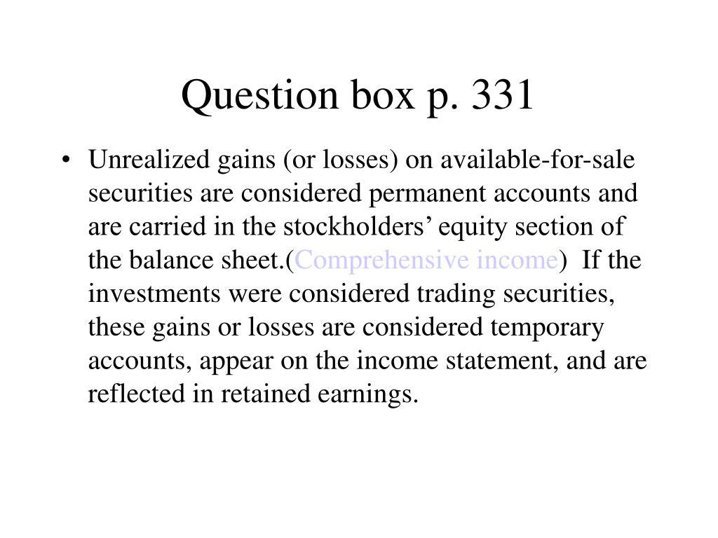 Question box p. 331