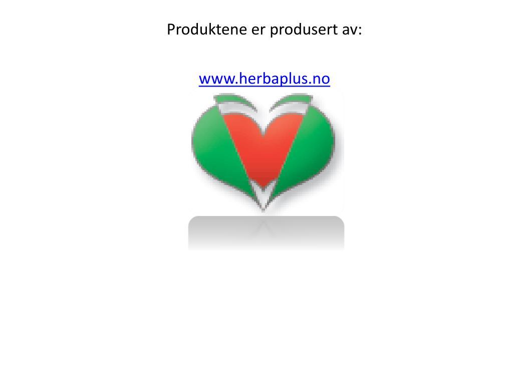 Produktene er produsert av: