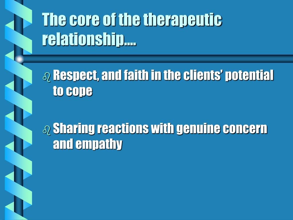 genuineness in therapeutic relationship