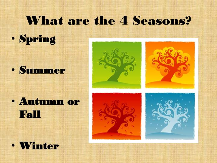 What are the 4 seasons