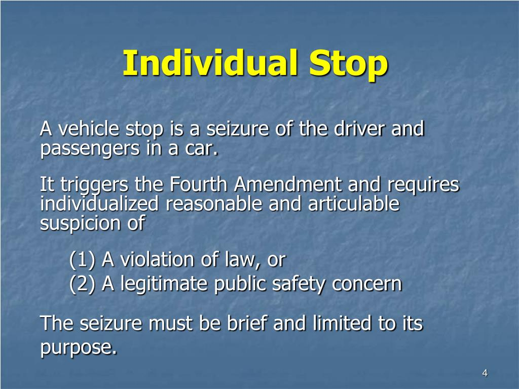 Individual Stop