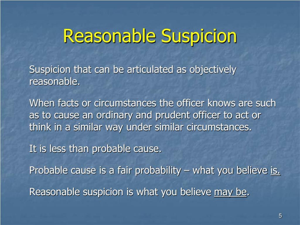 Reasonable Suspicion