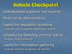 vehicle checkpoint