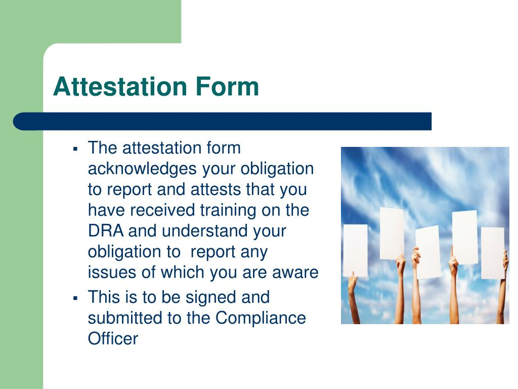 Attestation Form