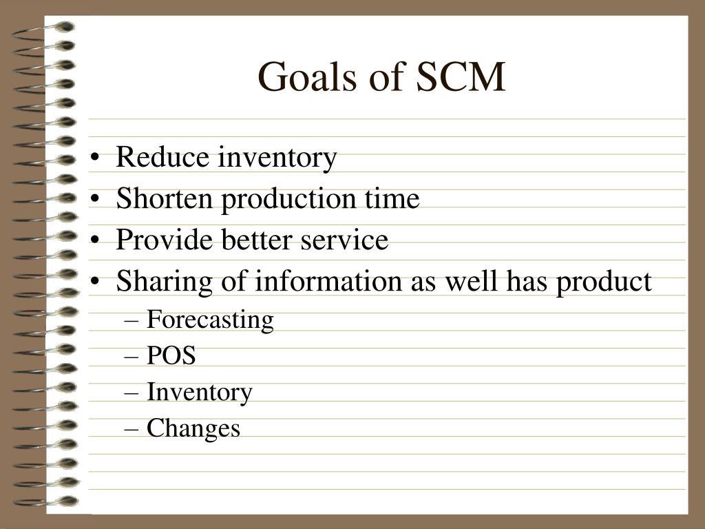 Goals of SCM