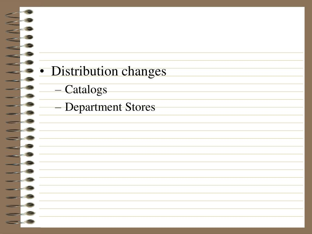 Distribution changes