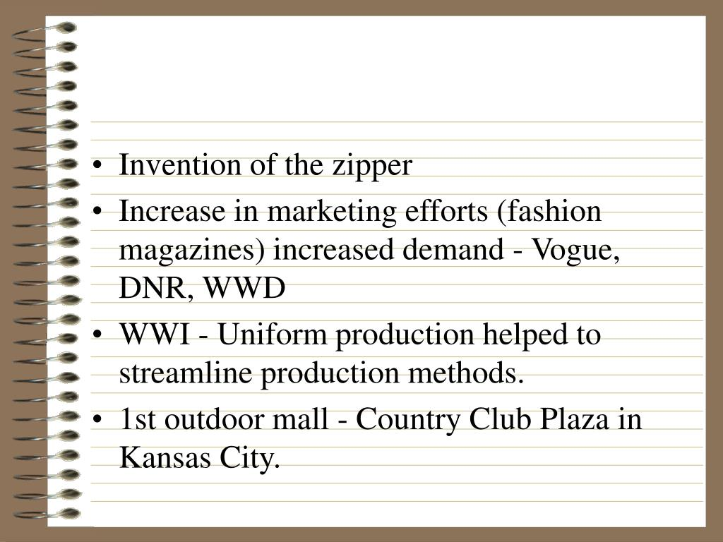 Invention of the zipper