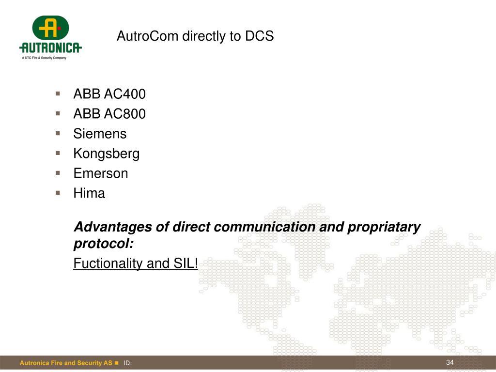 AutroCom directly to DCS