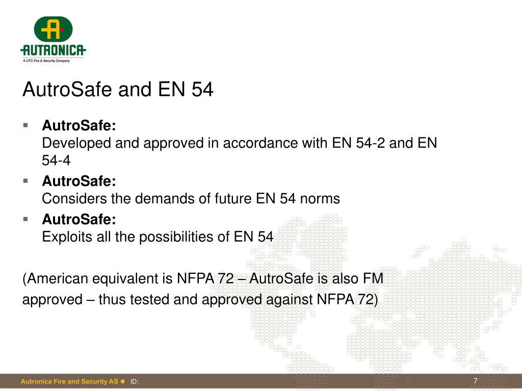 AutroSafe and EN 54