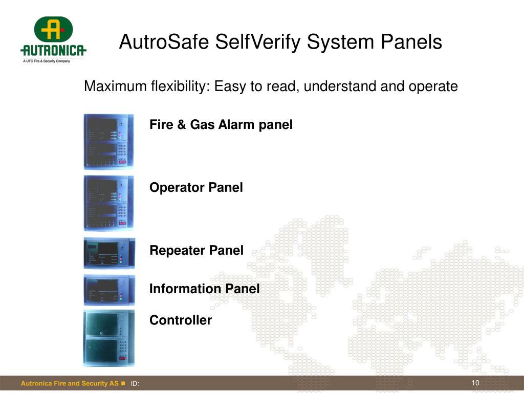 AutroSafe SelfVerify System Panels
