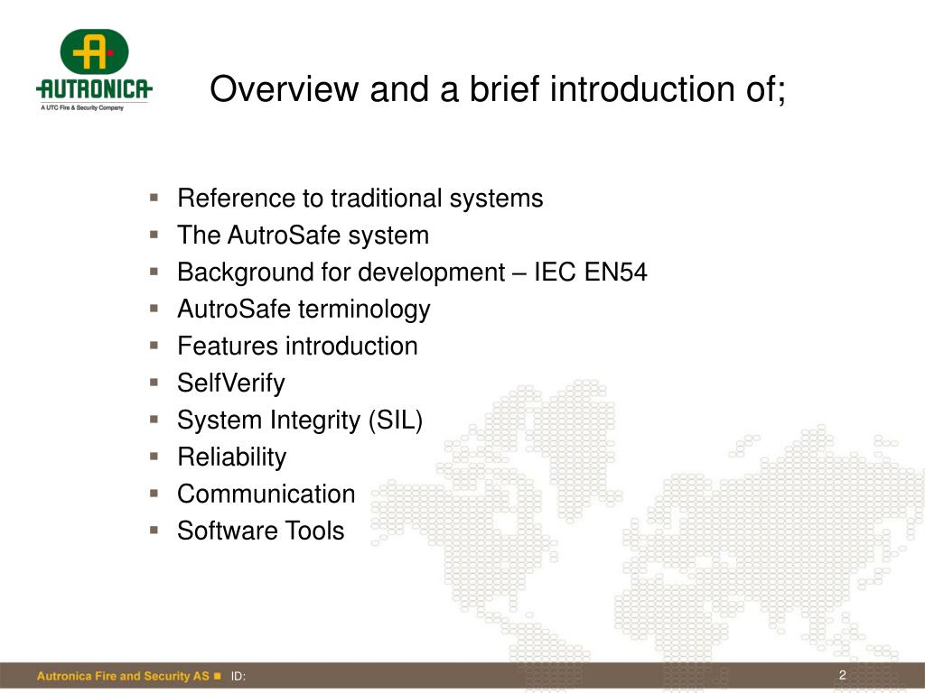 Overview and a brief introduction of;