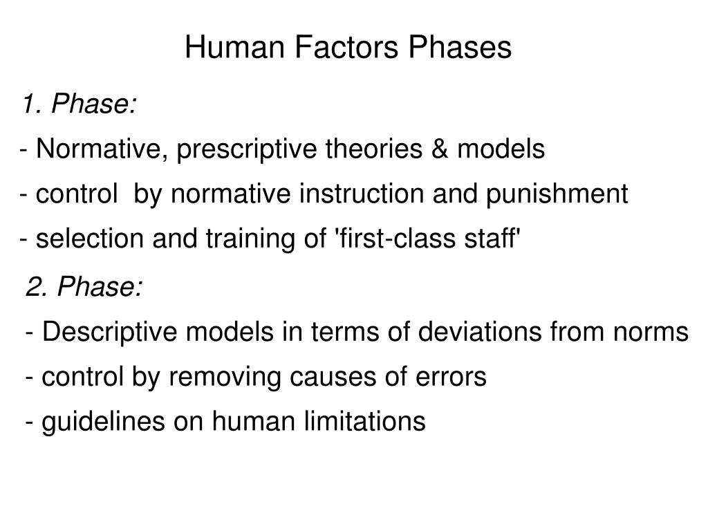 Human Factors Phases