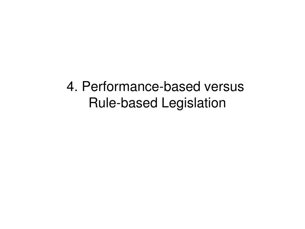 4. Performance-based versus