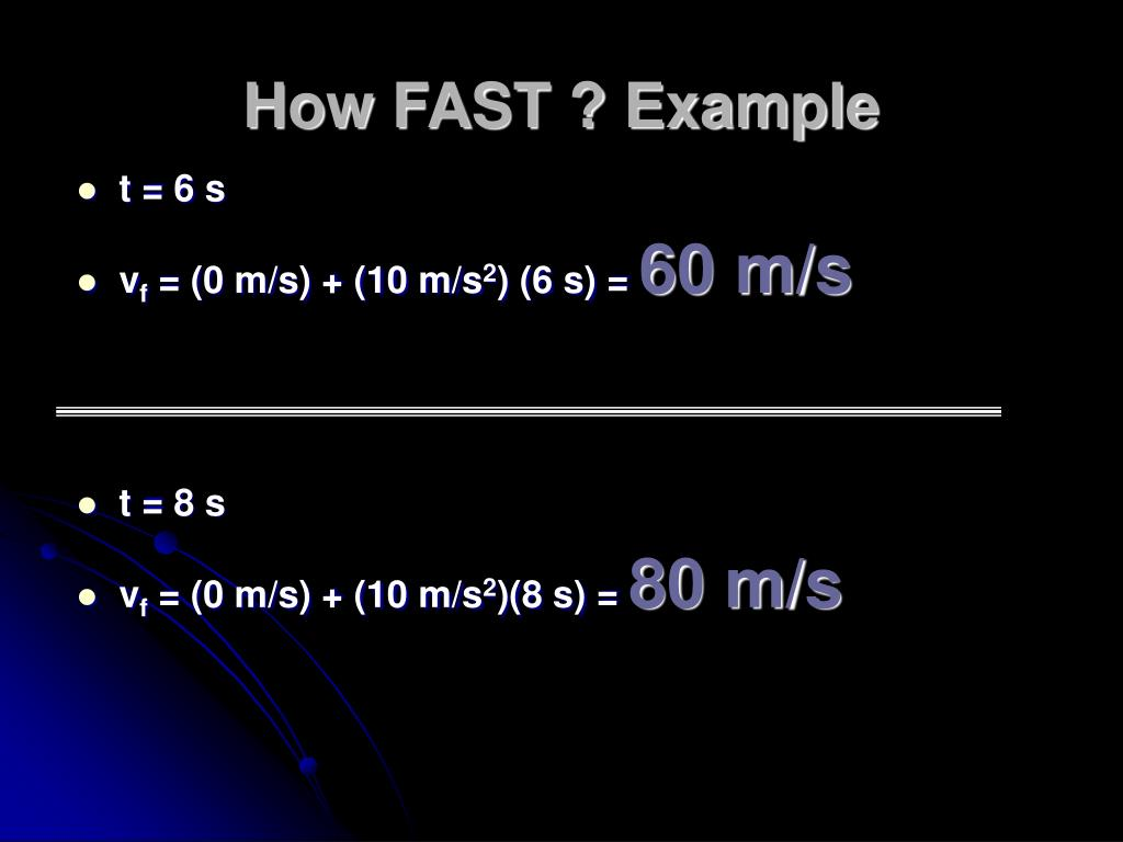 How FAST ? Example