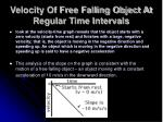 velocity of free falling object at regular time intervals6