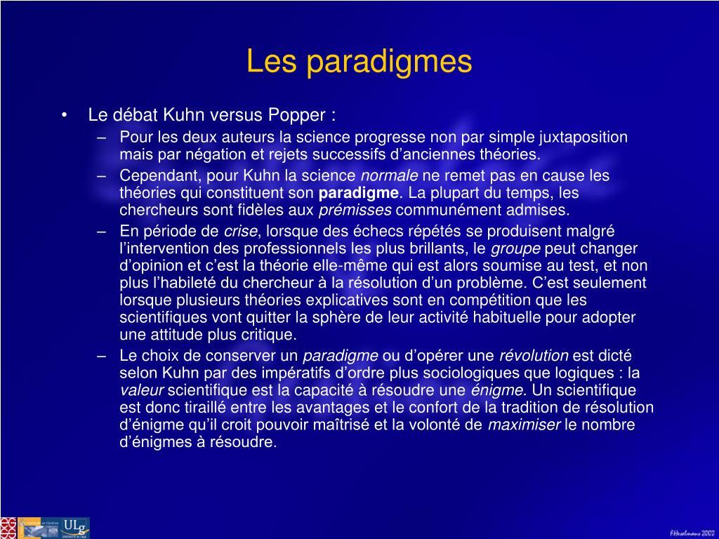 Les paradigmes