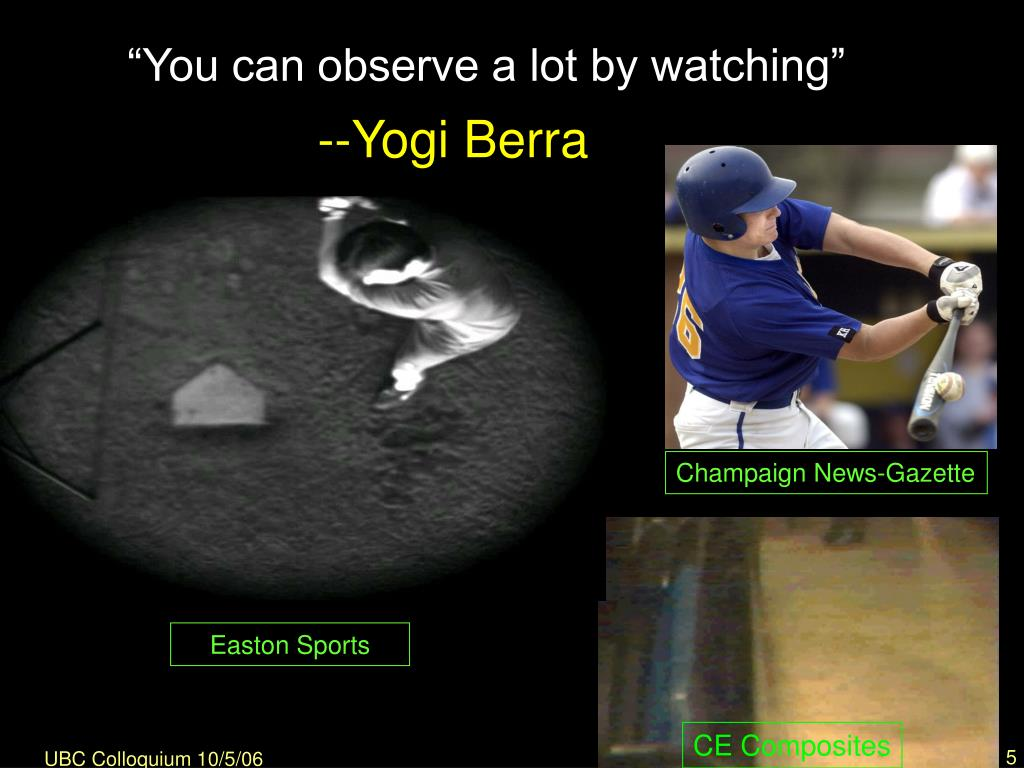 """You can observe a lot by watching"""