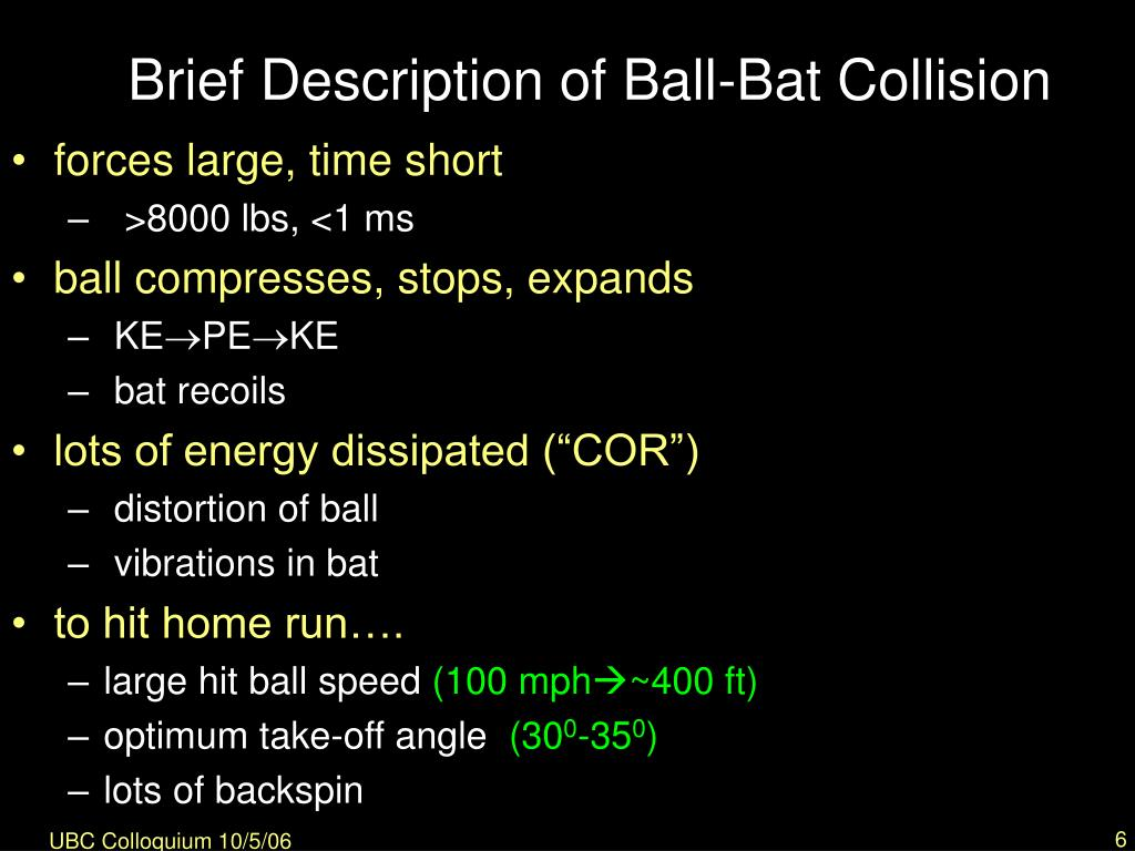 Brief Description of Ball-Bat Collision