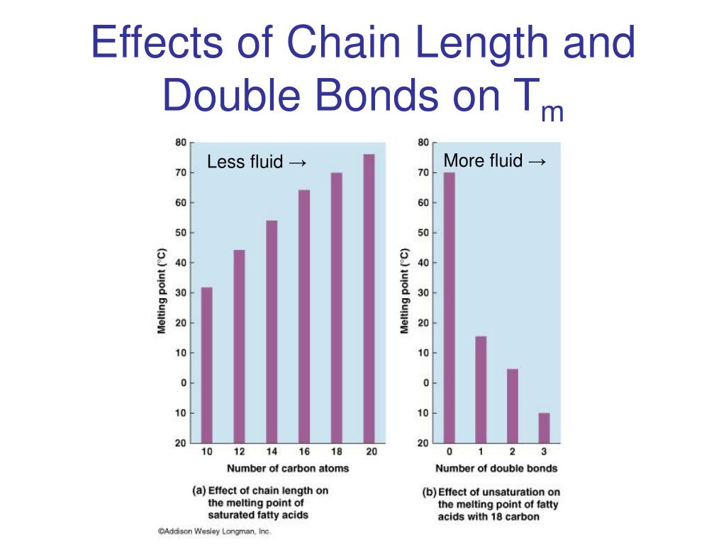 Effects of Chain Length and Double Bonds on T