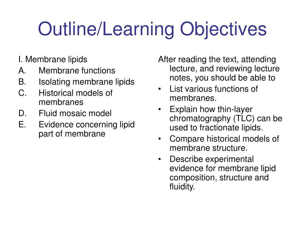 I. Membrane lipids
