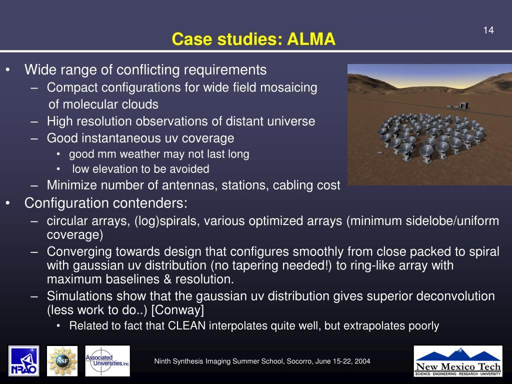 Case studies: ALMA