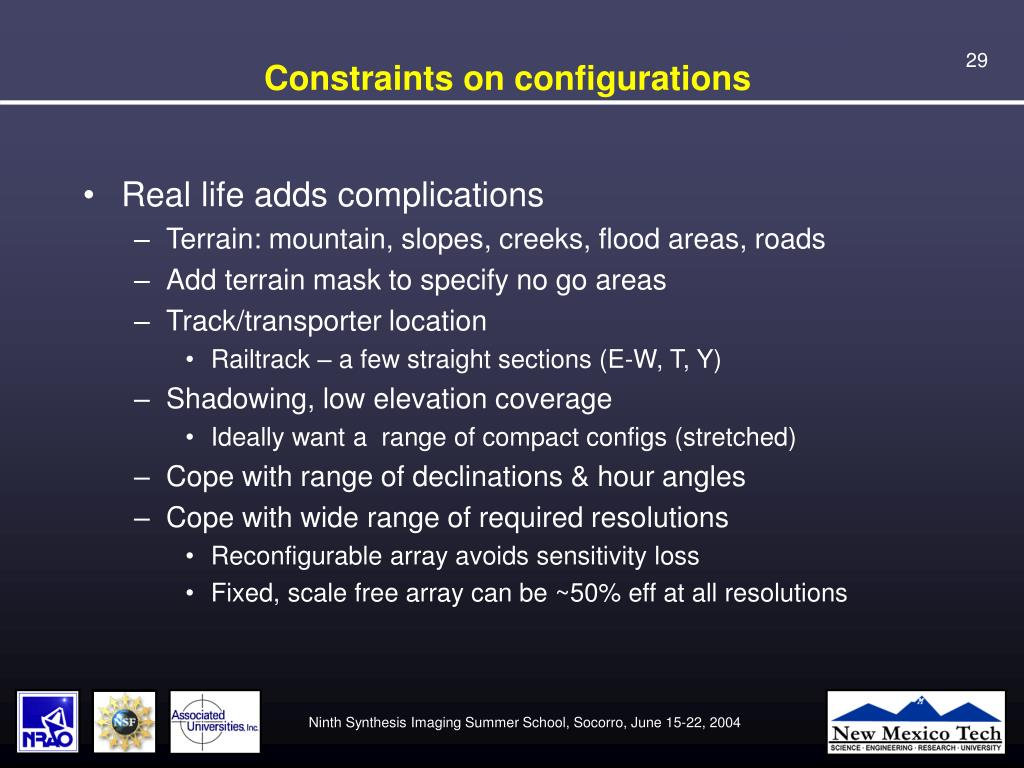 Constraints on configurations