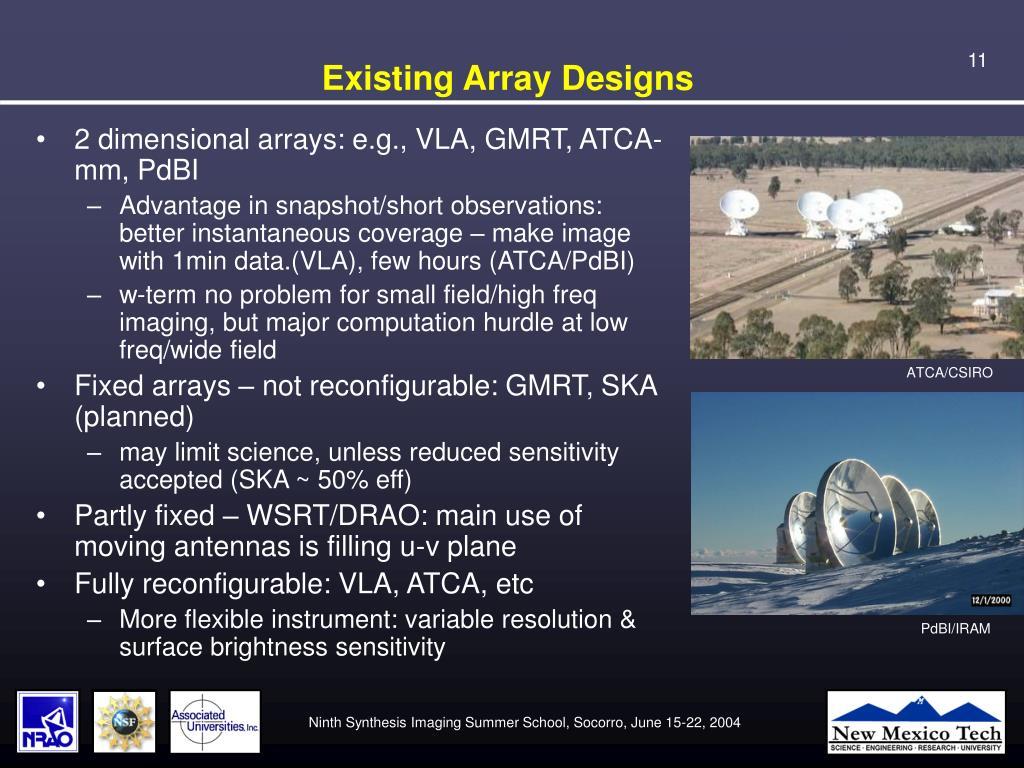 Existing Array Designs