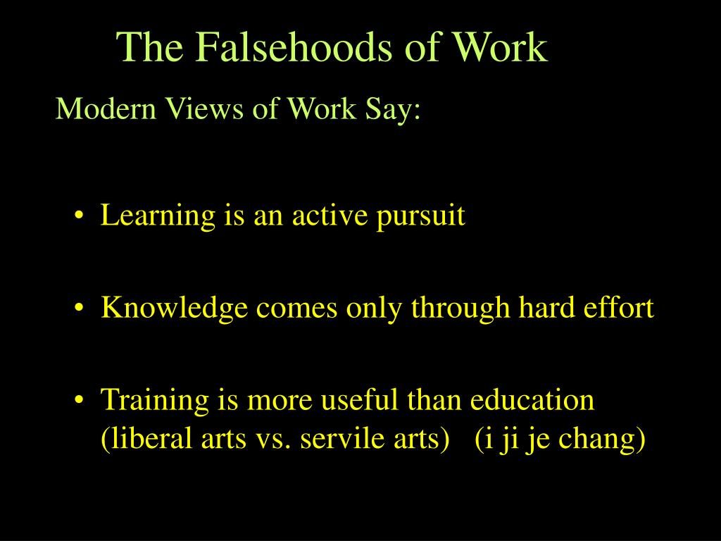The Falsehoods of Work