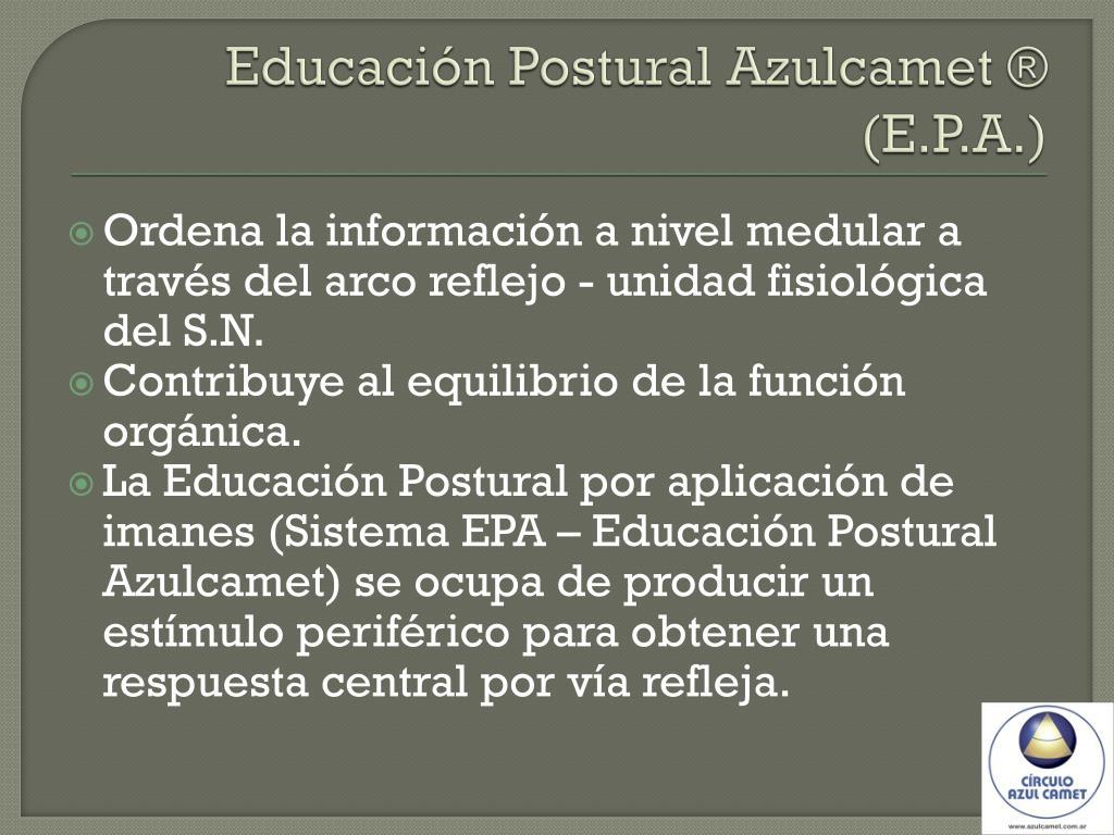 Educación Postural Azulcamet ® (E.P.A.)