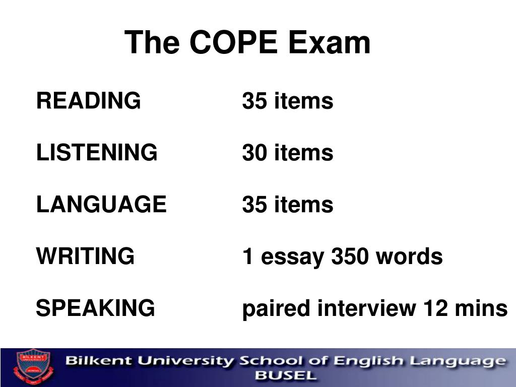 The COPE Exam