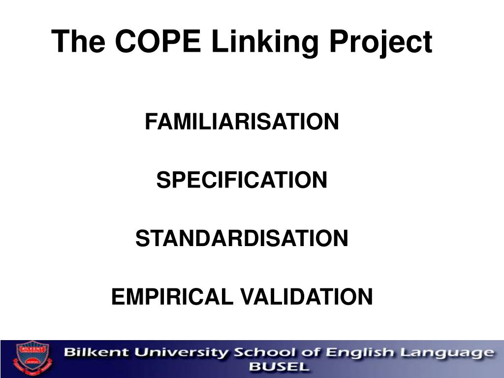 The COPE Linking Project