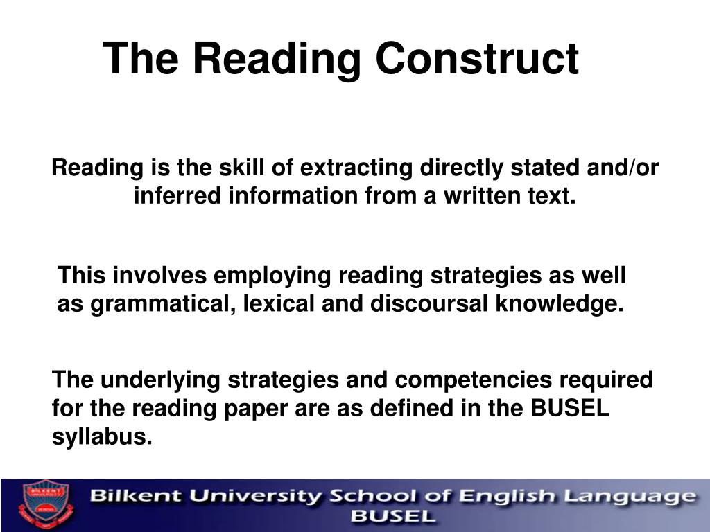 The Reading Construct