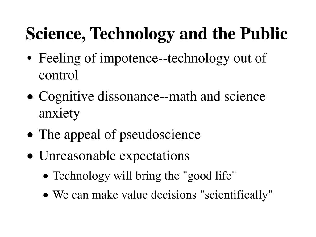 Science, Technology and the Public
