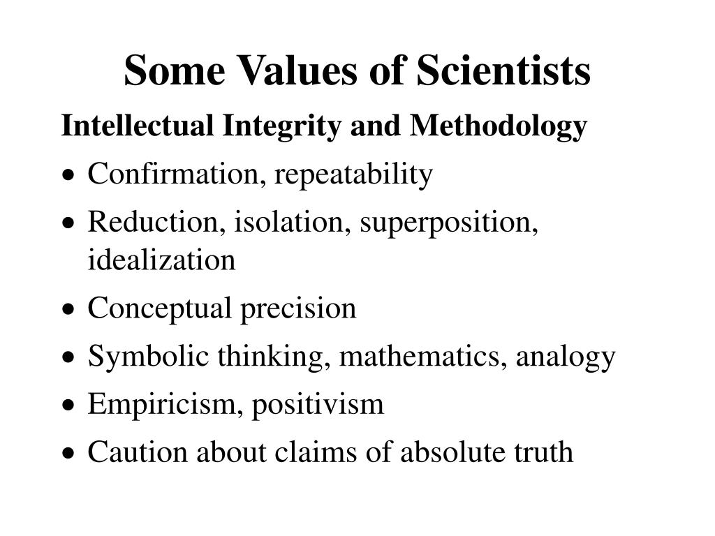 Intellectual Integrity and Methodology