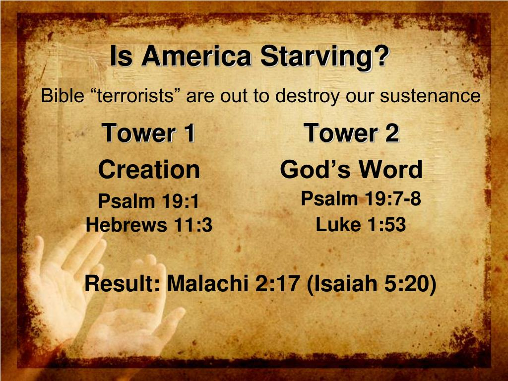 Is America Starving?