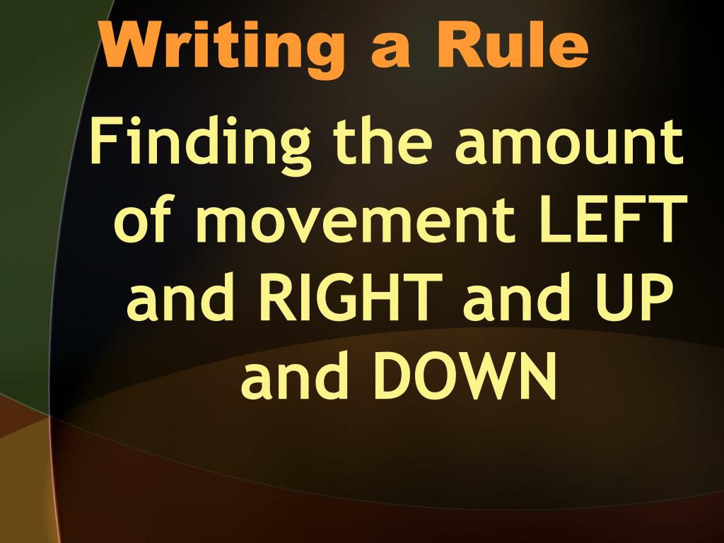 Writing a Rule