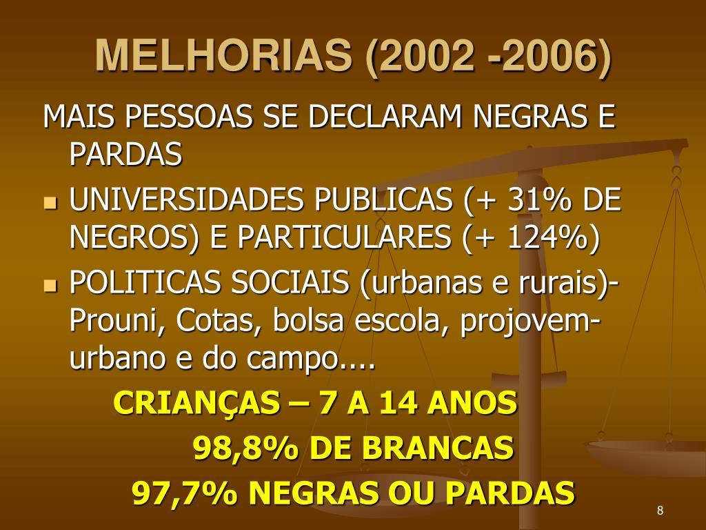 MELHORIAS (2002 -2006)