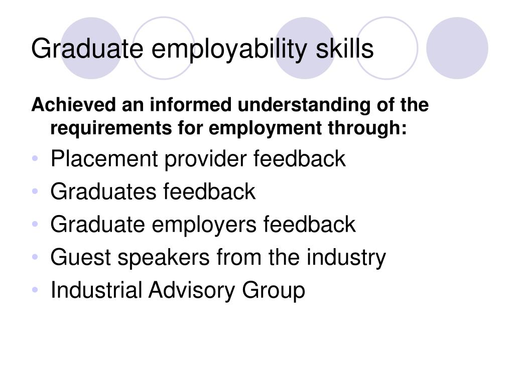 Graduate employability skills