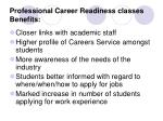 professional career readiness classes benefits