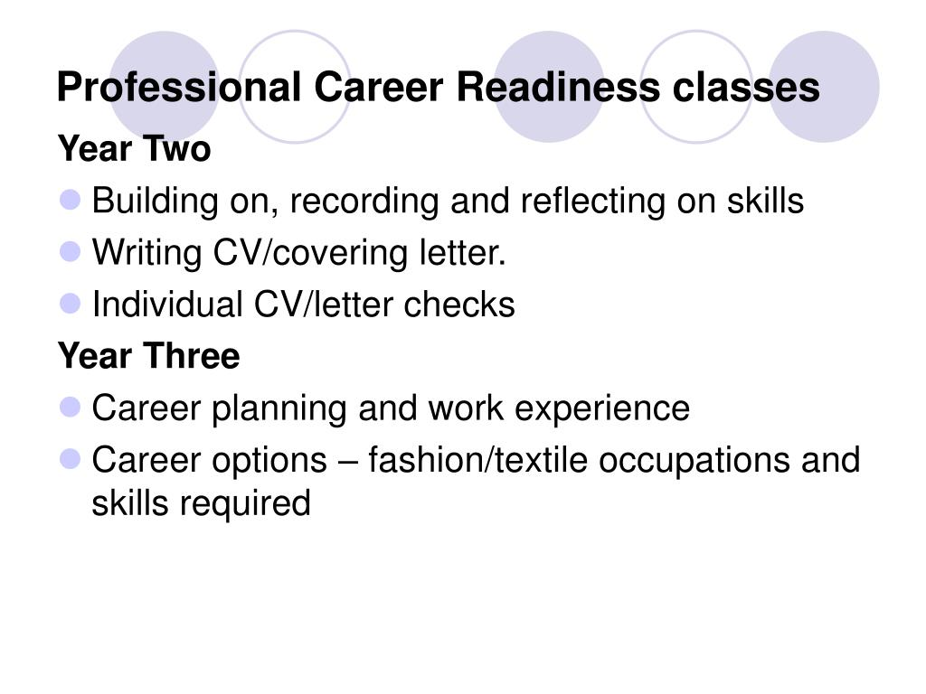 Professional Career Readiness classes