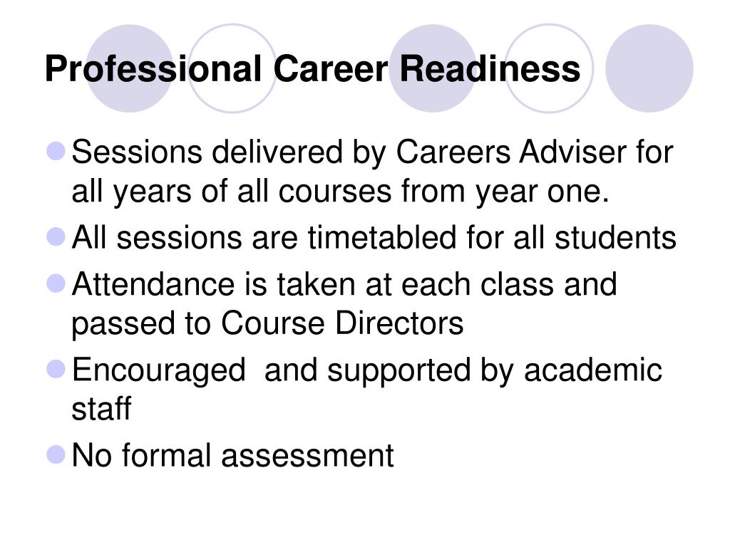 Professional Career Readiness