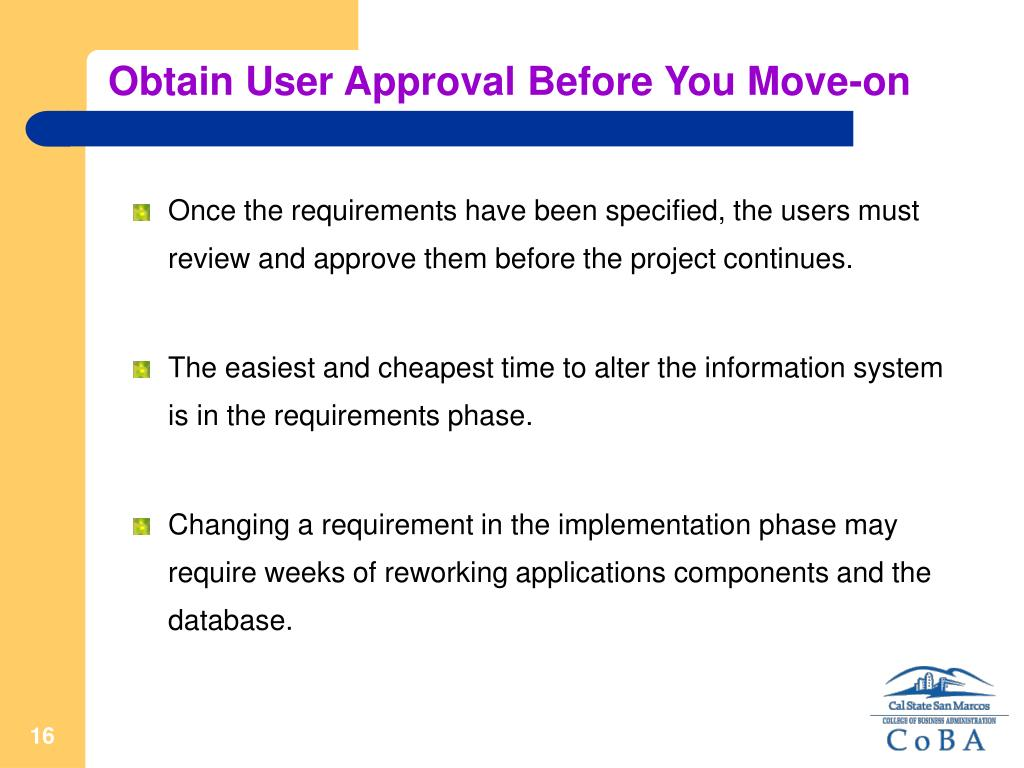 Obtain User Approval Before You Move-on