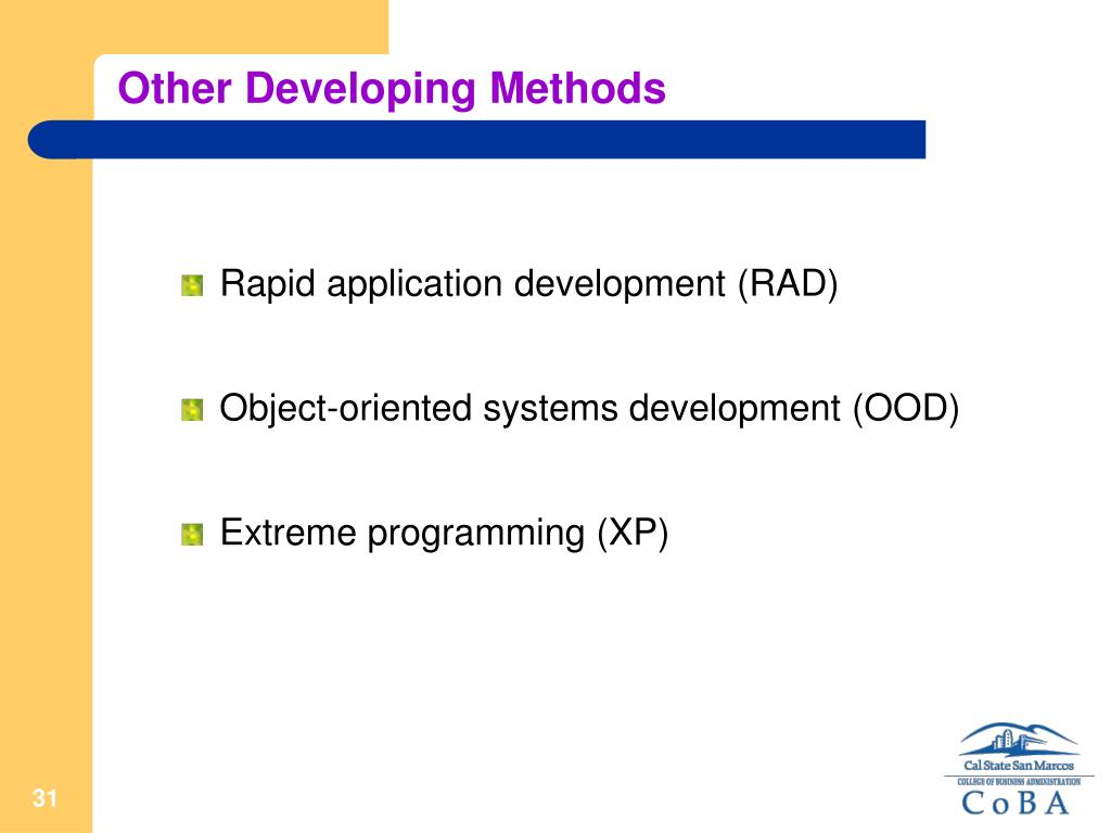 Other Developing Methods