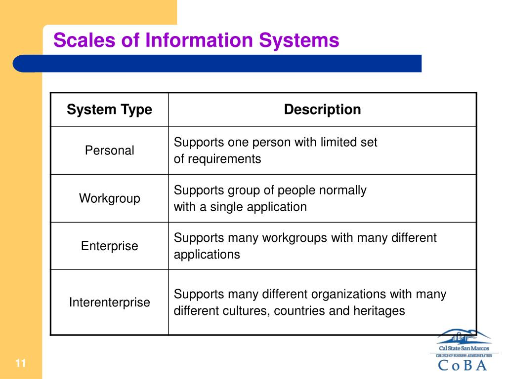 Scales of Information Systems