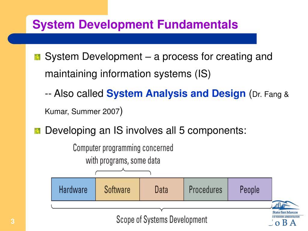 System Development Fundamentals