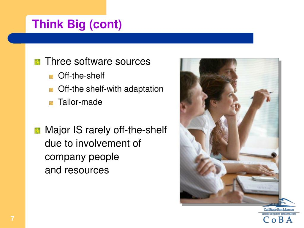 Think Big (cont)