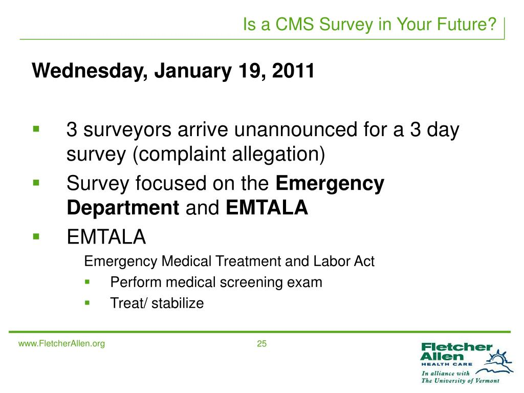 Is a CMS Survey in Your Future?